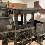 antique train locomotive weathervane