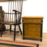 miniature chest with chair