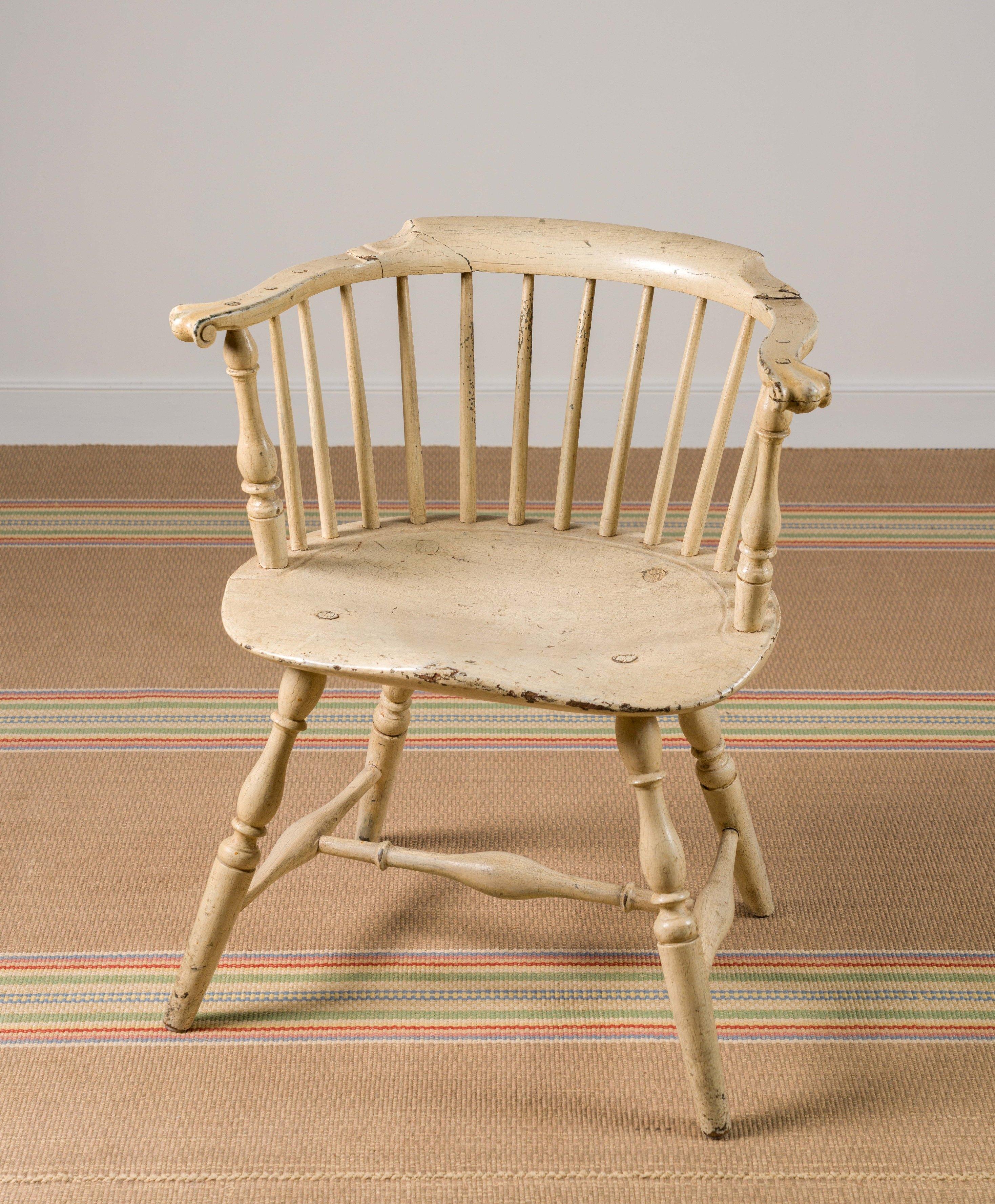 philadelphia painted windsor chair rel=