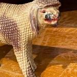 folk art carving of poodle