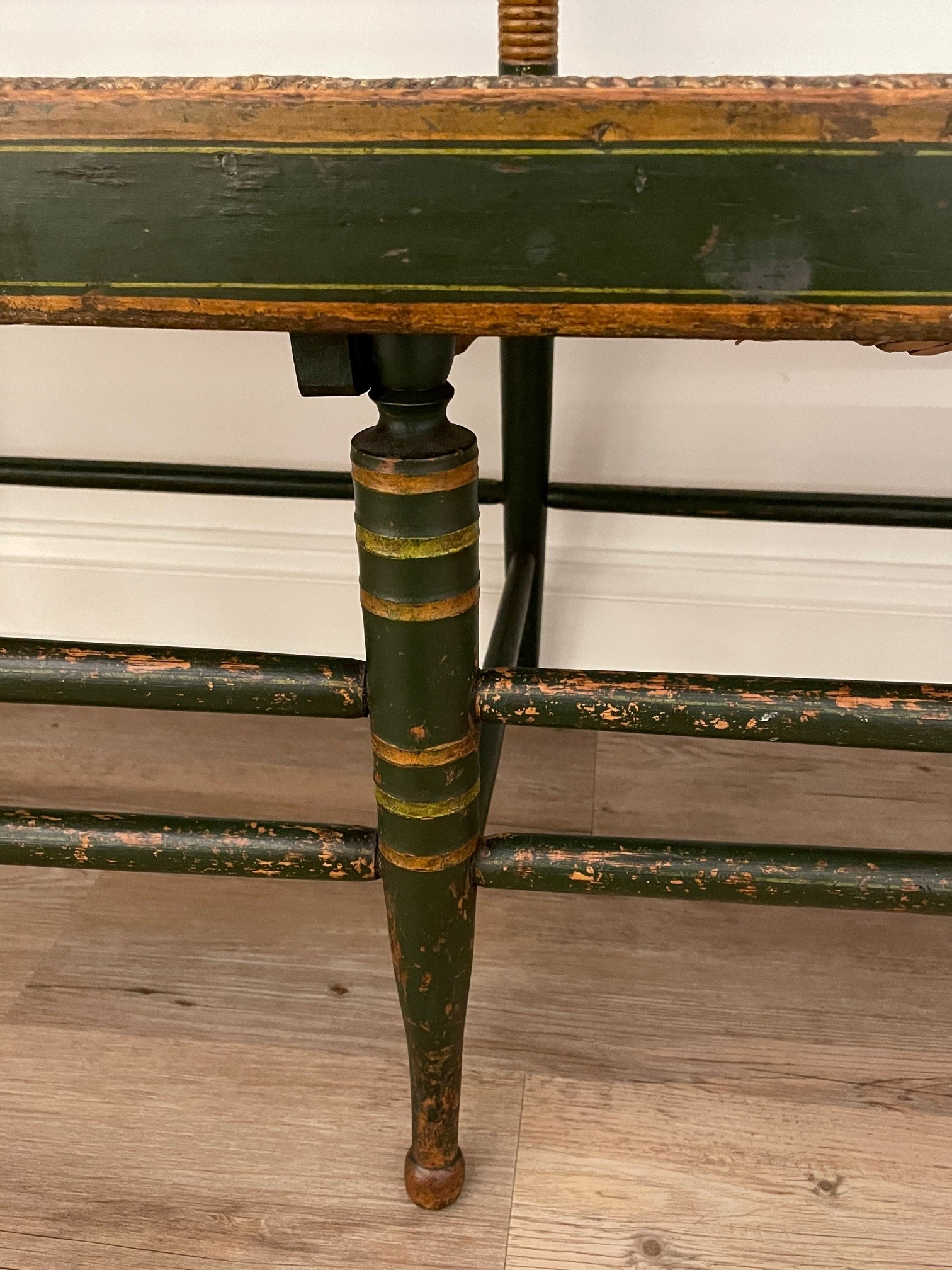 antique painted windsor settee rel=