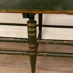 antique painted windsor settee
