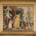 antique silk embroidered picture
