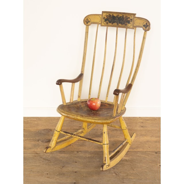 child's decorated rocking chair
