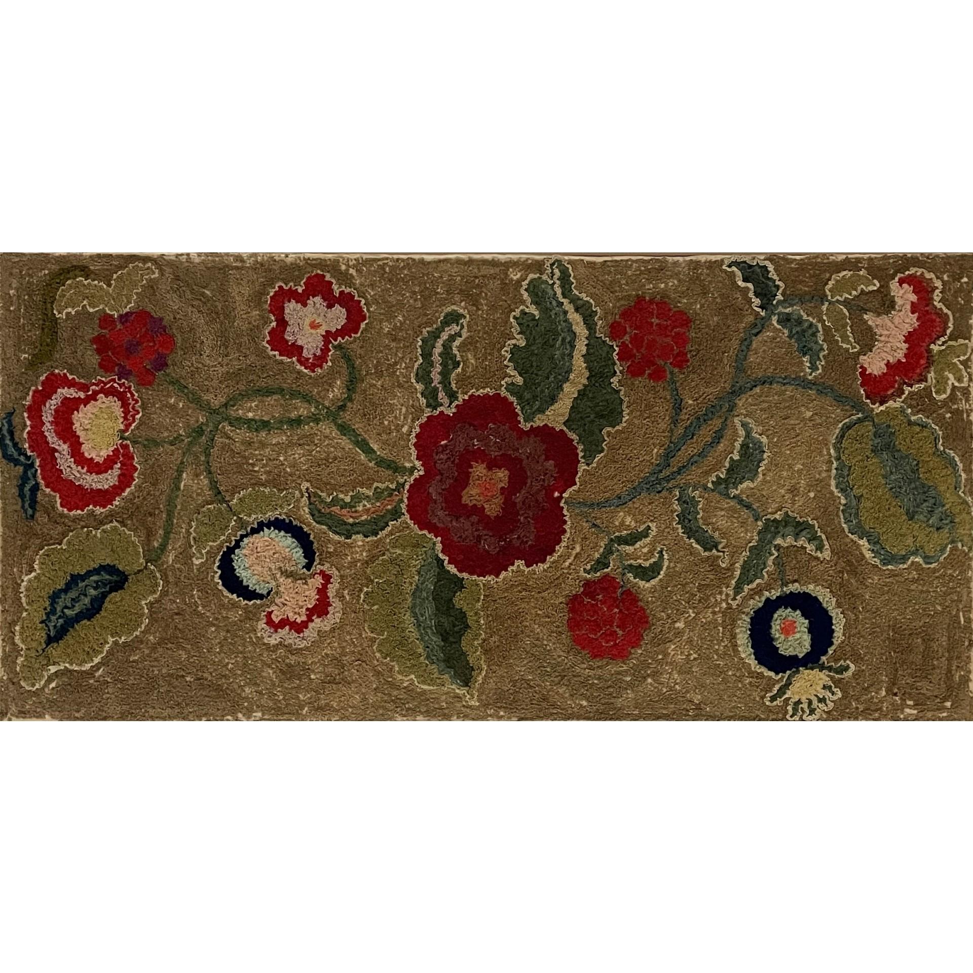 american floral shirred rug rel=