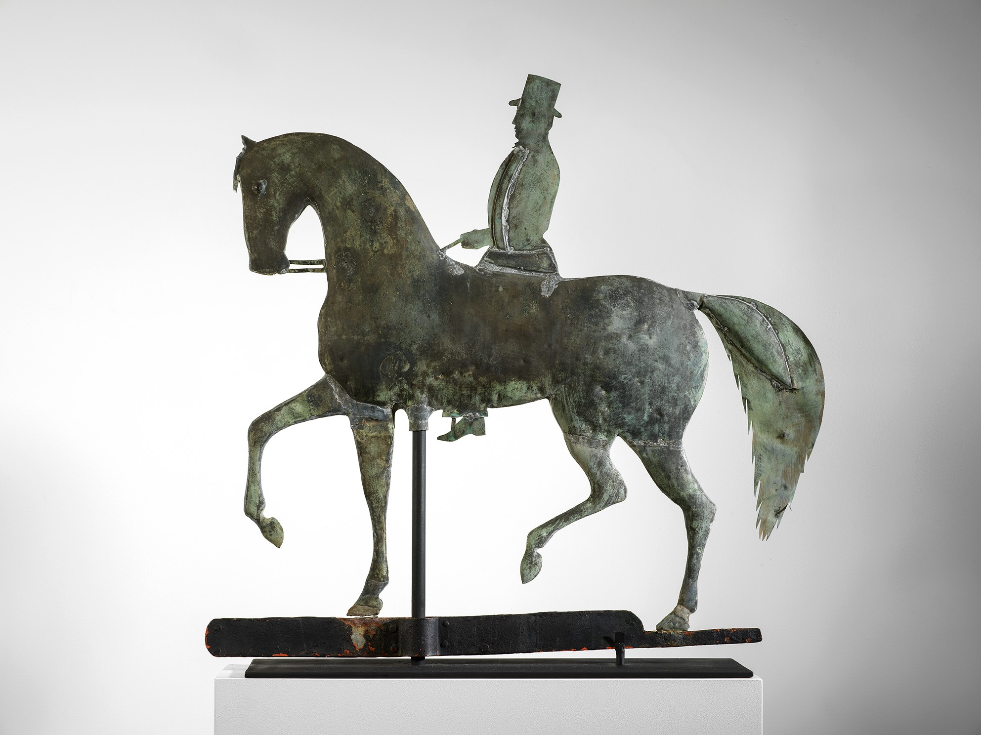 American horse and rider weathervane rel=