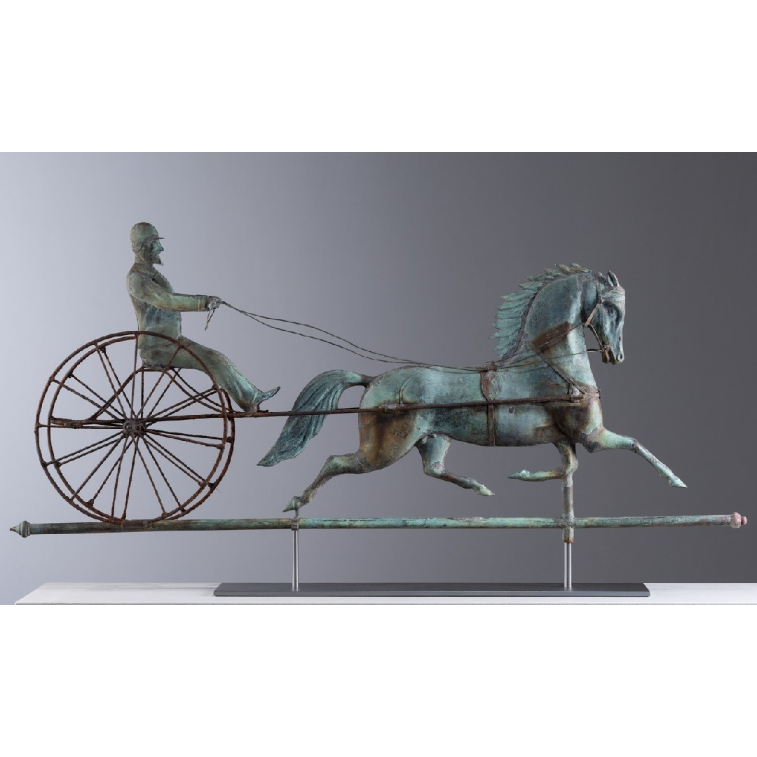 horse and driver weathervane rel=