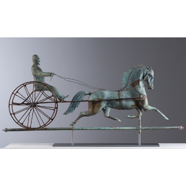 horse and driver weathervane