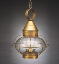 Large Onion Hanging Light