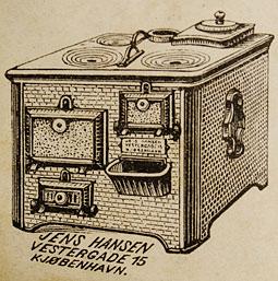 Komfur fra Jens Hansen, anno 1897