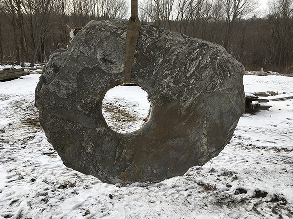 Antique Stone19th Century Granite Well Cap