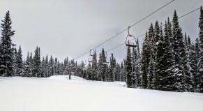 Surreal sight of the Kokomo lift after the season is closed.
