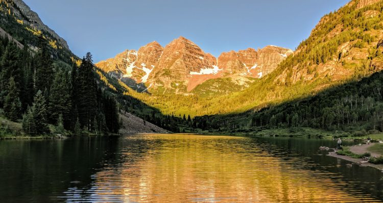 Maroon Bells over Maroon Lake