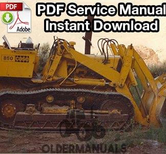 Case 850 Crawler Dozer Service Manual