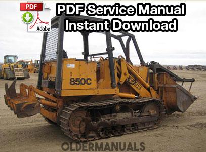 Case 850C, 855C Crawler Dozer Service Manual