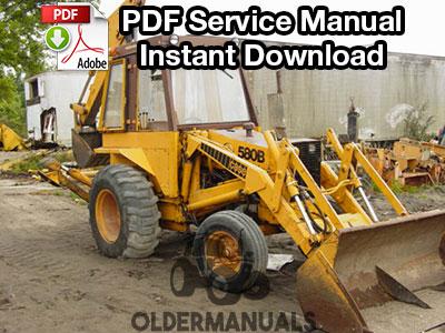 Case 580B CK Tractor Loader Backhoe Service Manual