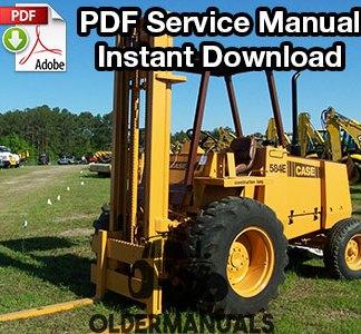 Case 584E, 585E, 586E Forklift Service Manual