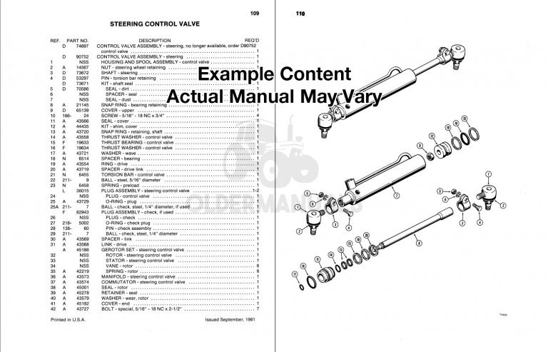 Case W14 Wheel Loader Parts Manual (S/N 9119672-Above