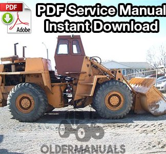 Case W26 Wheel Loader Service Manual
