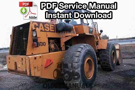 Case W30 Wheel Loader Service Manual