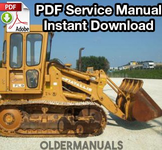 Fiat Allis FL9 Crawler Loader Service Manual