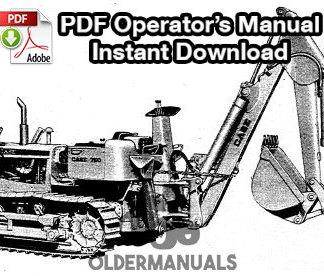 Case Model 33S & 34 Backhoe Operator's Manual