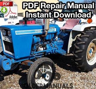 Ford 1100, 1200, 1300, 1500, 1700, 1900 Tractor Repair Manual