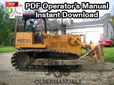 Case 1150D, 1155D Crawler Dozer Operator's Manual