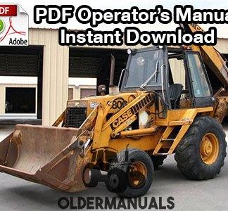 Case 680G Tractor Loader Backhoe Operator's Manual