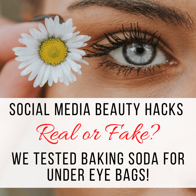 Social Media Beauty Hacks Baking Soda for Eye Bags