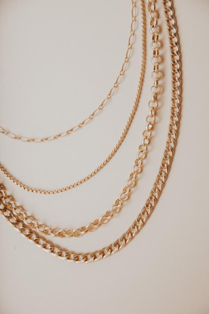 How To Wear White - Four Chaing Layered Necklace Bohme