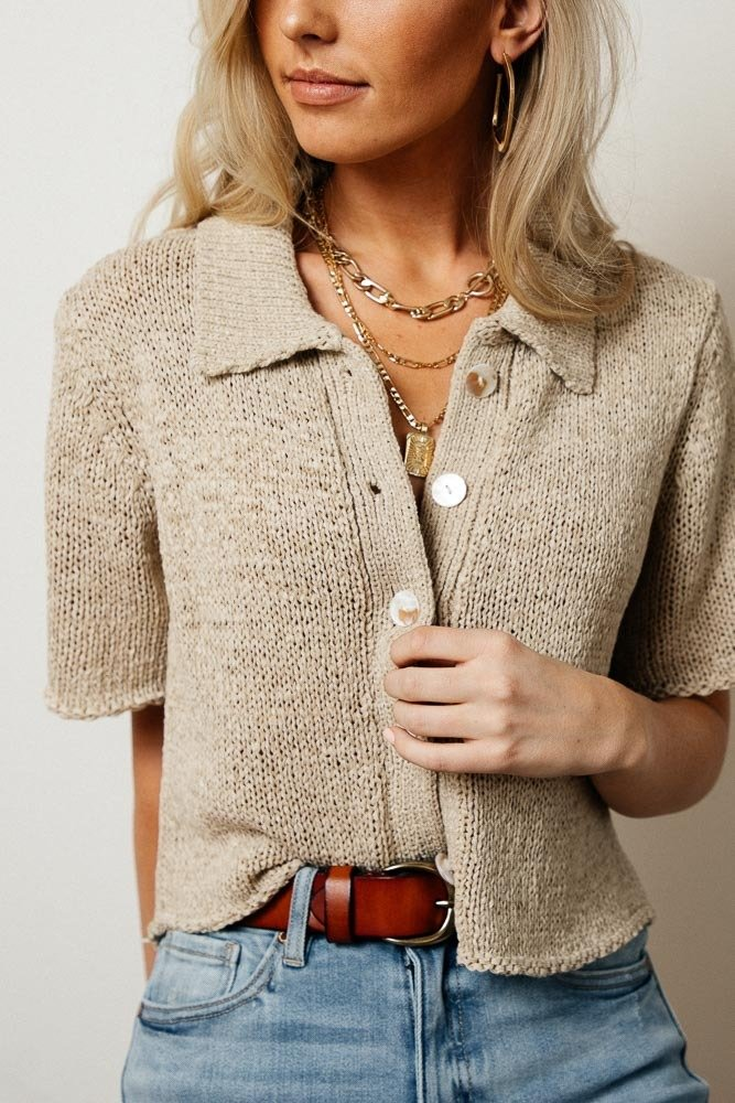 How to Wear White - Taupe Cherie Sweater by Bohme