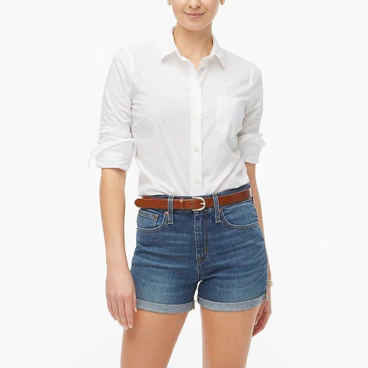 J. Crew Denim Shorts - Cute Summer Outfits