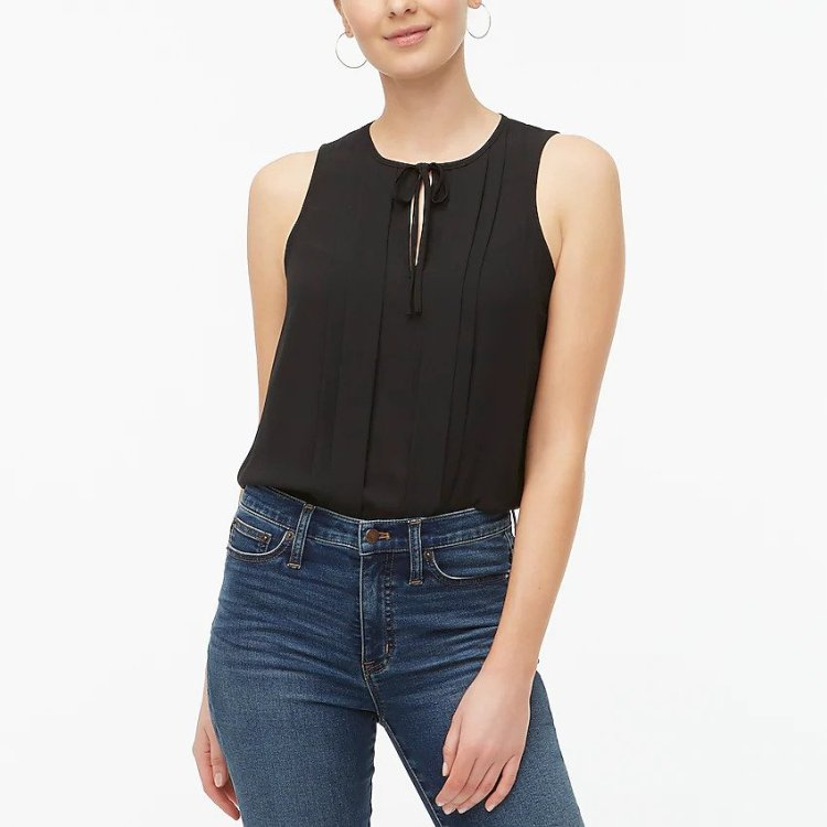 J. Crew Tie Neck Tank - Cute Summer Outfits