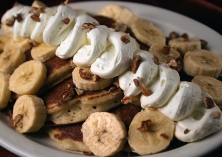 pecan and banana pancakes in post falls