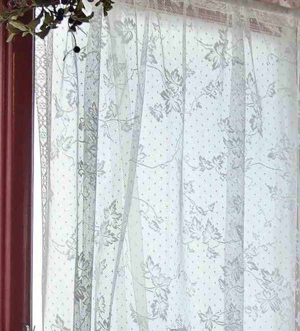 Lace Curtain Material=English Ivy