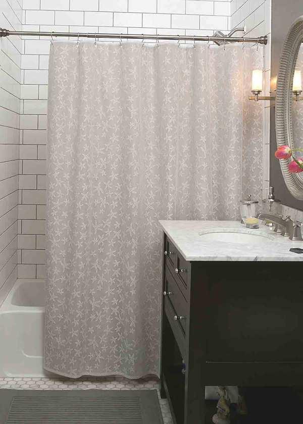 Starfish Lace Shower Curtain