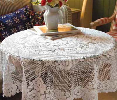 Victorian Rose Round Tablecloth