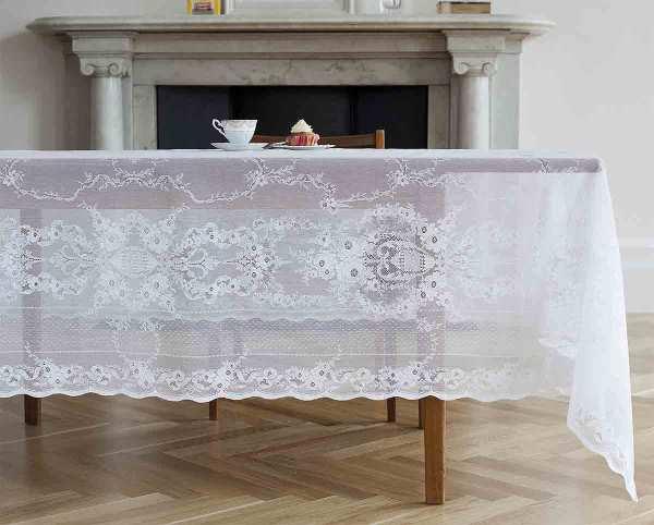 Cotton Lace Tablecloth - Lydia