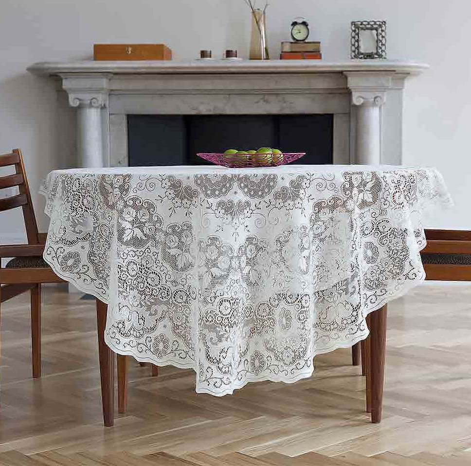 Lace Tablecloths Oval 300x300.jpg Cotton Lace Tablecloths-Derby Imported from Scotland