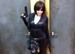 Domino cosplay at NYCC.