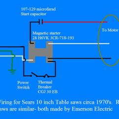 Capacitor Start Motor Wiring Diagram Craftsman Spotlight Table Saw Repair Miscellaneous Circuits And A Link Schematic