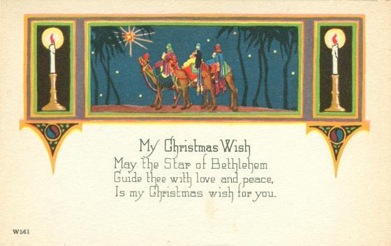 Vintage Christmas Postcard My Christmas Wish Old
