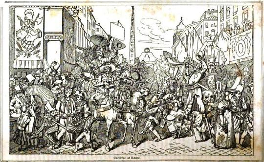 Carnival At Rome 1846 Old Fashioned Holidays