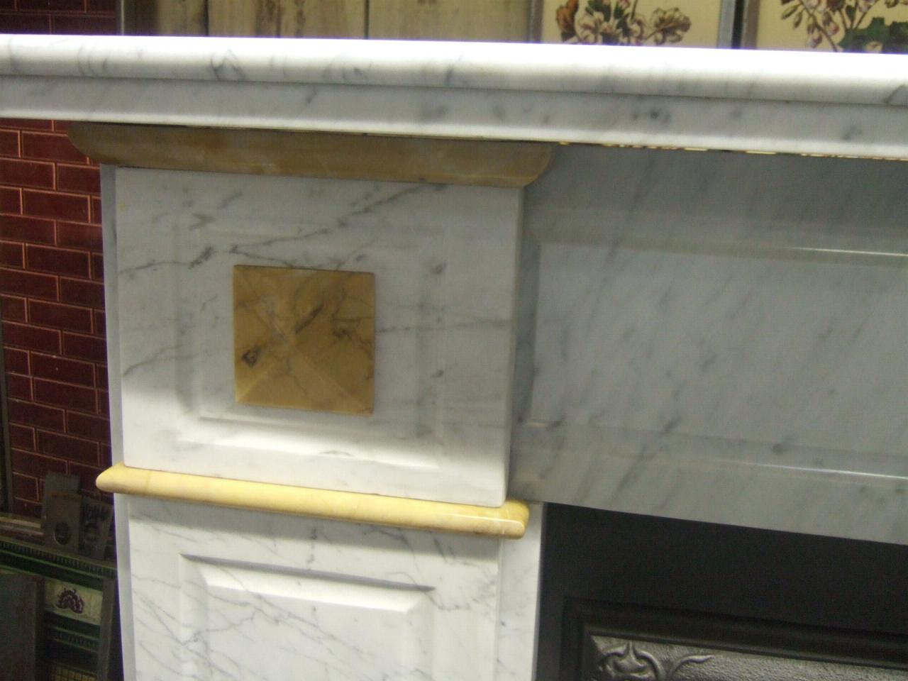 Pictures Of Electric Fireplace Inserts Antique Victorian Carrara & Sienna Marble Fireplace