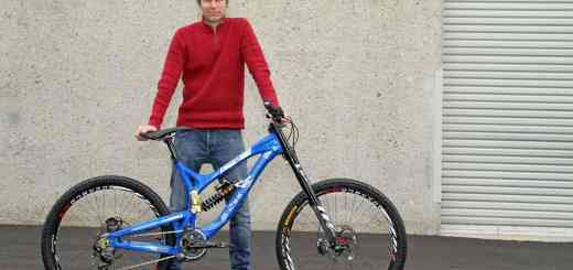 Jeff Steber with his latest 2013 951 EVO downhill bike