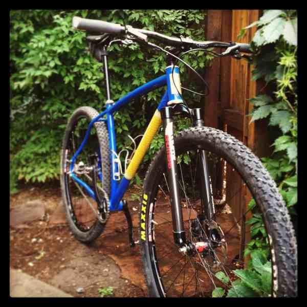 Greg Ooley's custom Black Cat rigid 29er