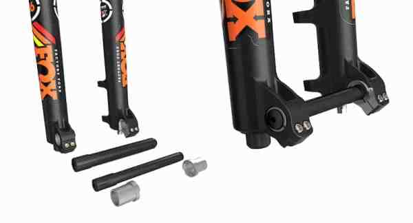 2015 FOX 36 thru-axle detail