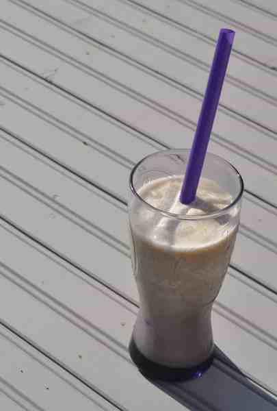 Frozen Coffee Banana Almond Milk Smoothie