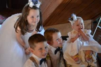 old glory ranch- wedding party- children